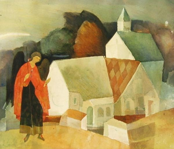 Landscape with an angel